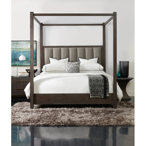 Miramar Aventura Jackson Upholstered Four Poster Bed by Hooker Furniture