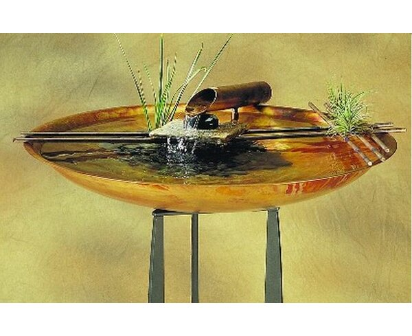 Copper Nature Bowl Large Tabletop Fountain by Nayer Kazemi