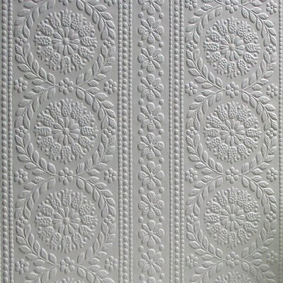 """Anaglypta Paintable 33' x 20.5"""" Floral and Botanical 3D Embossed Wallpaper Brewster Home Fashions"""