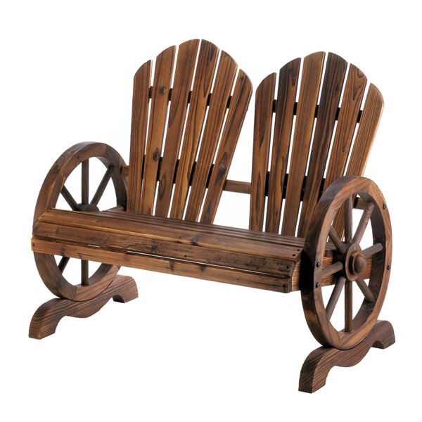 Terrio Wagon Wheel Couple Solid Wood Adirondack Chair by Millwood Pines Millwood Pines