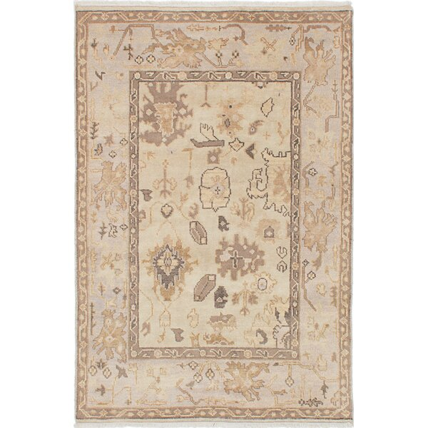 One-of-a-Kind Doggett Traditional Hand-Knotted Cream Area Rug by Isabelline