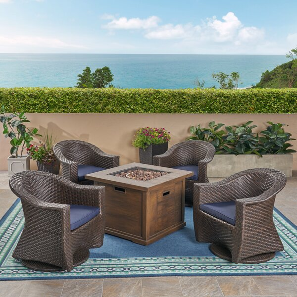 Knapp 5 Piece Rattan Sofa Seating Group by Bayou Breeze