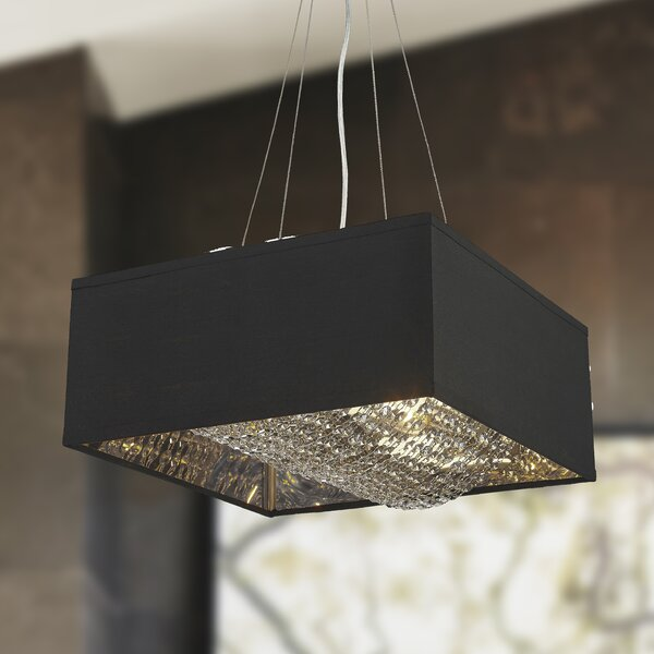 Julewitz 5-Light Unique / Statement Rectangle / Square Chandelier By Everly Quinn