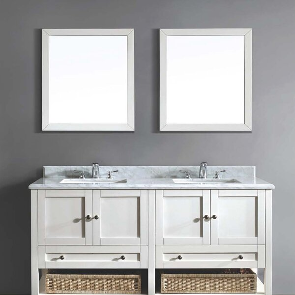 61 Double Vanity Set with Mirror by Dawn USA