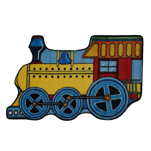 Fun Shape High Pile Train Area Rug by Fun Rugs