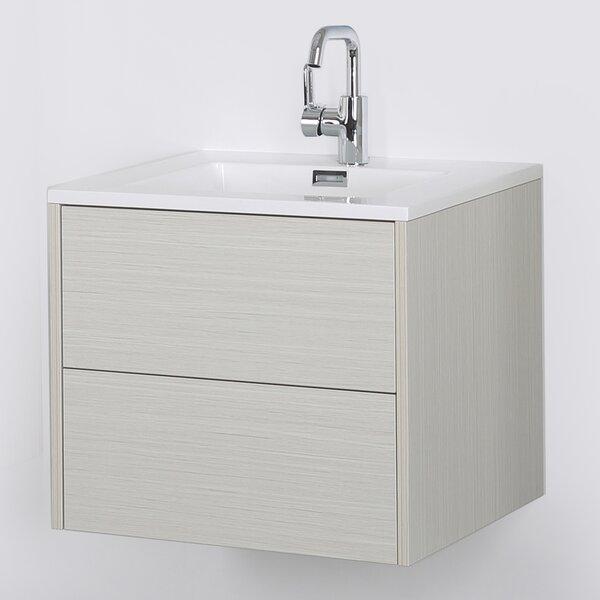 24 Wall-Mounted Single Bathroom Vanity Set by Streamline Bath