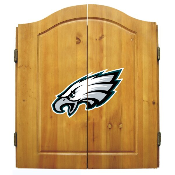 NFL Team Dartboard and Cabinet Set by Imperial International