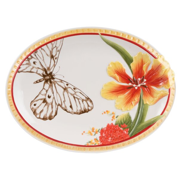 Flower Market Platter by Fitz and Floyd