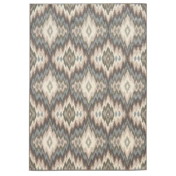Concord Ivory/Blue Area Rug by Threadbind