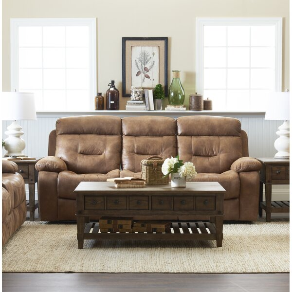 Best #1 Russel Reclining Sofa By Charlton Home Discount