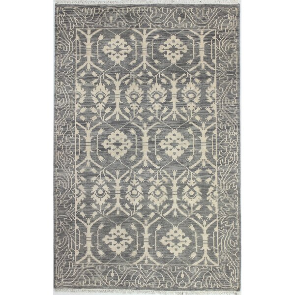 Hand-Knotted Grey Area Rug by Birch Lane™