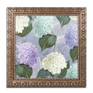 'Hortensia Lavenders' Framed Graphic Art by Trademark Fine Art