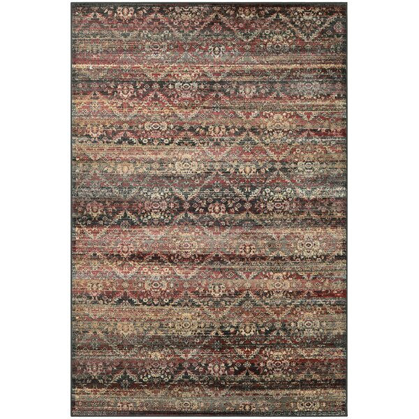 Saramarie Red/Black Area Rug by Bloomsbury Market