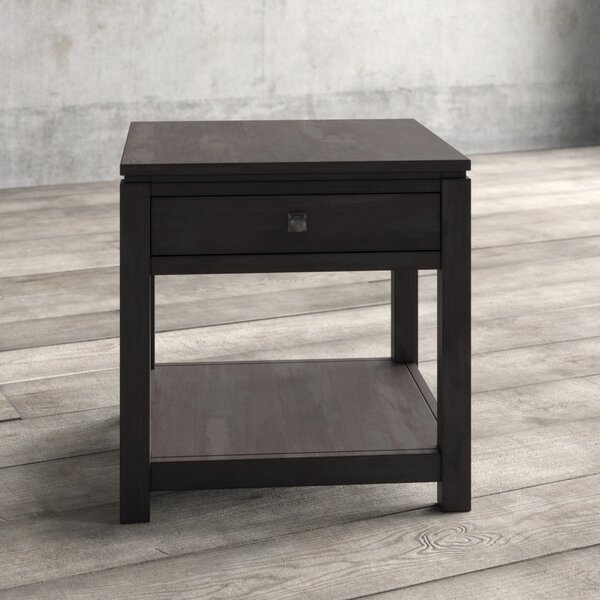 Mulliken Solid Wood End Table with Storage by Gracie Oaks Gracie Oaks