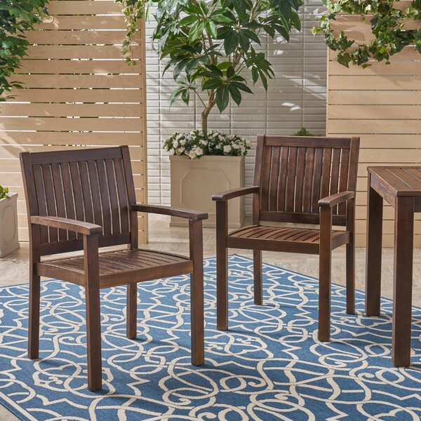 Bennett Patio Dining Chair (Set of 2) by Millwood Pines