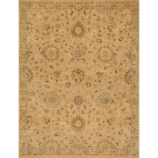 Durden Hand-Knotted Brown Area Rug by Darby Home Co