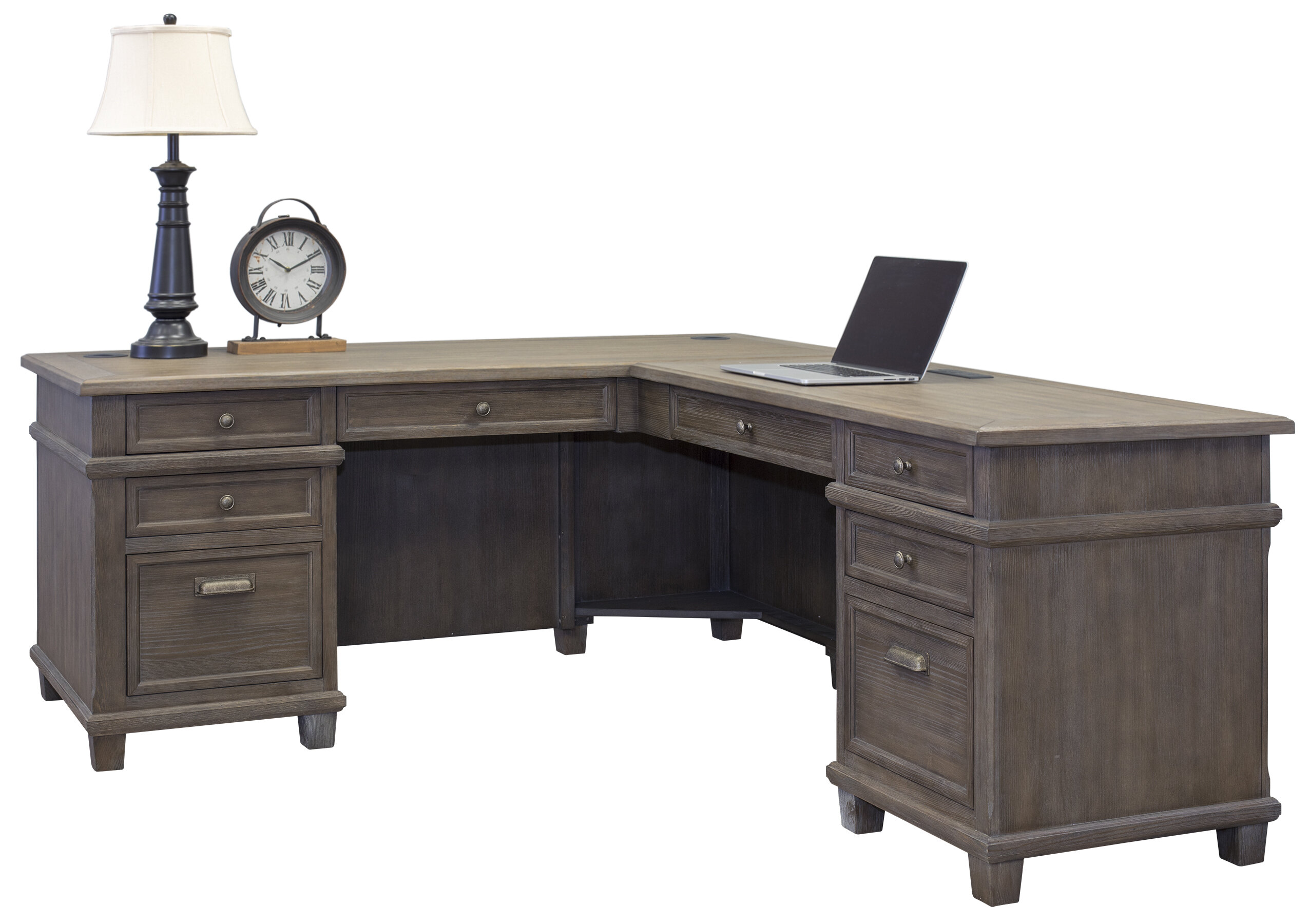 online retailer f31b8 a828e Larissa Solid Wood L-Shape Executive Desk