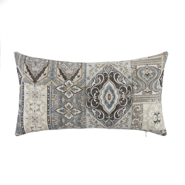 Spice Trade with Bone Velvet Lumbar Pillow by Grouchy Goose
