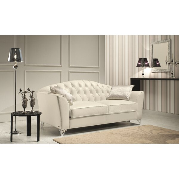 Cute Minerva Leather Loveseat by Rosdorf Park by Rosdorf Park