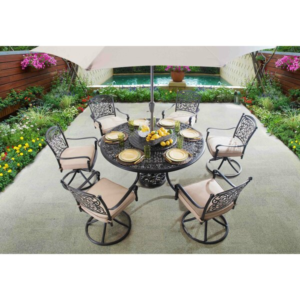 Wingert 9 Piece Dining Set with Cushions by Darby Home Co