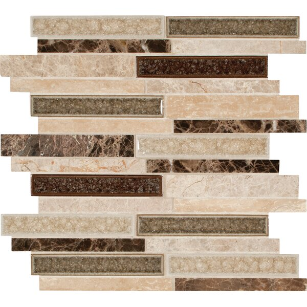 Stonegate Interlocking 6 Stone/Glass Mosaic Tile in Brown by MSI