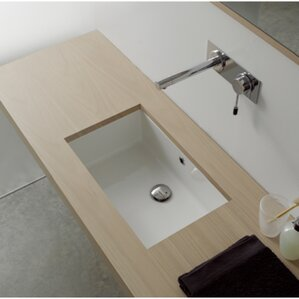 Marvelous Miky Ceramic Rectangular Undermount Bathroom Sink With Overflow