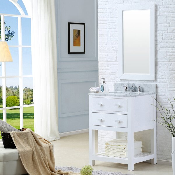 Berghoff 30 Single Bathroom Vanity Set with Mirror by Andover Mills
