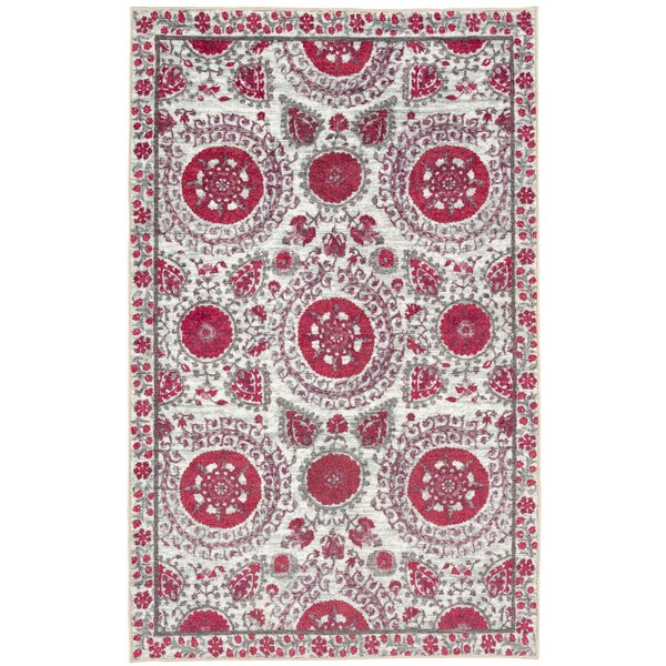 Lagouira Suzani Pink/Cream Area Rug by Bungalow Rose