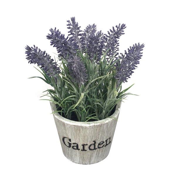 Lavender Floral Arrangement in Beige Pot by August Grove