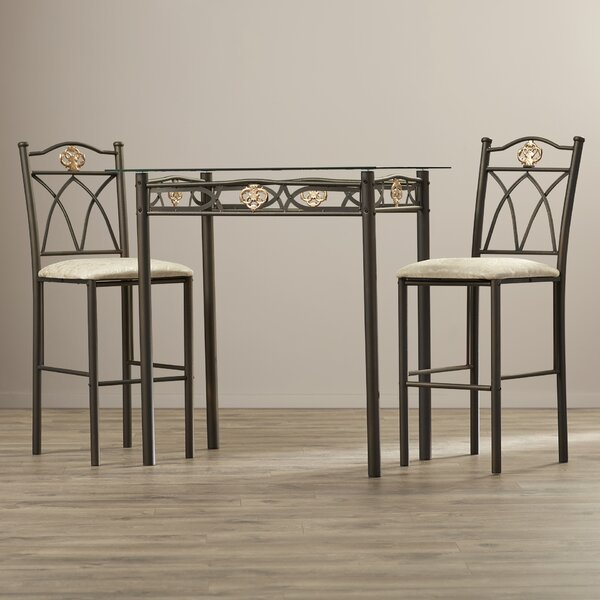 Caruthers 3 Piece Counter Height Pub Table Set by Winston Porter