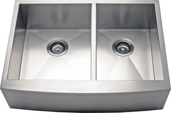 33 L x 21.63 W Apron Farm 60/40 Double Bowl Kitchen Sink by Alpha International