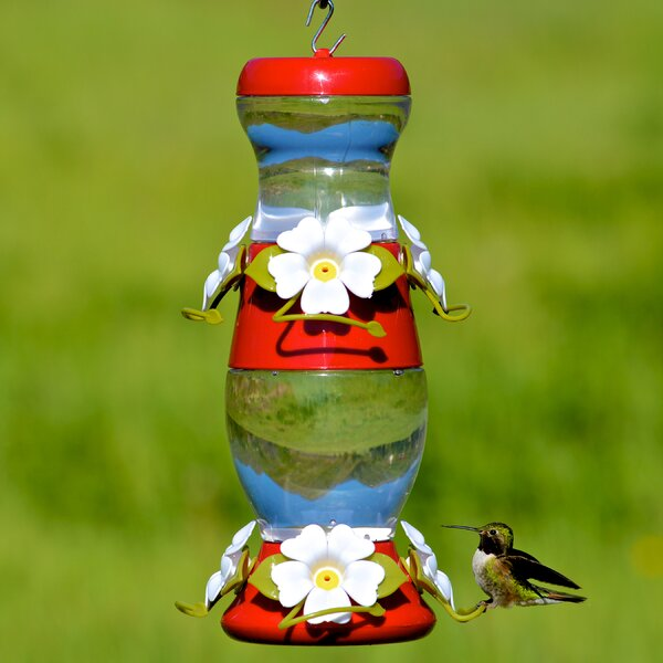 Double Deck Plastic Hummingbird Feeder by Perky Pe