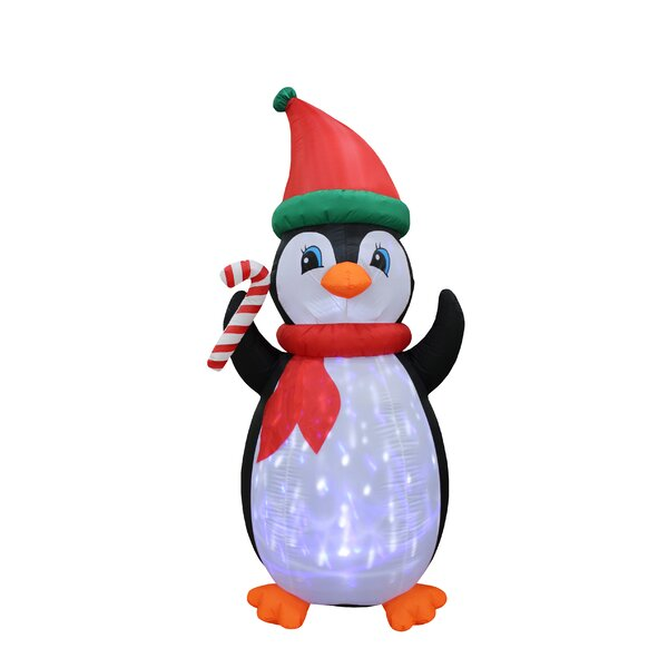 Twinkle Penguins Yard Christmas Inflatable by The Holiday Aisle