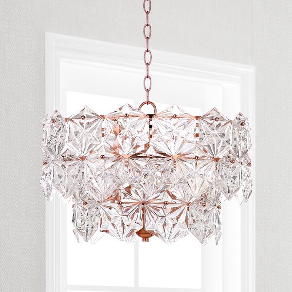 Thatcham 4-Light Unique / Statement Tiered Chandelier by House of Hampton House of Hampton