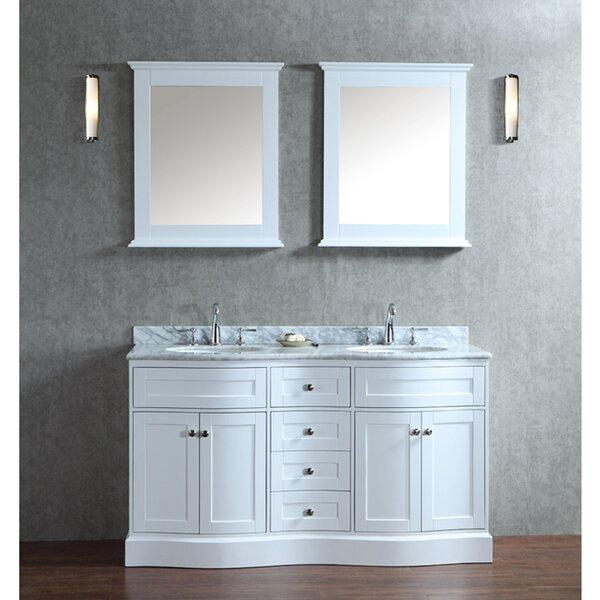 Kaminsky 60 Double Bathroom Vanity Set with Mirror by Red Barrel Studio