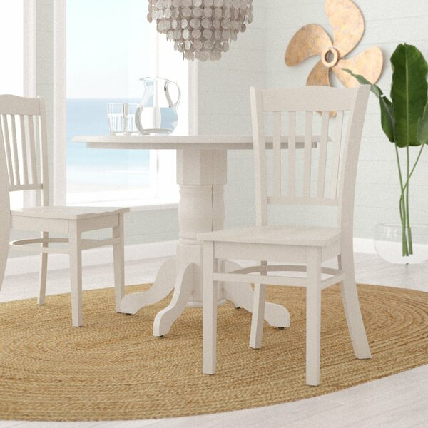 Langwater Solid Wood Dining Chair (Set of 2) by Beachcrest Home