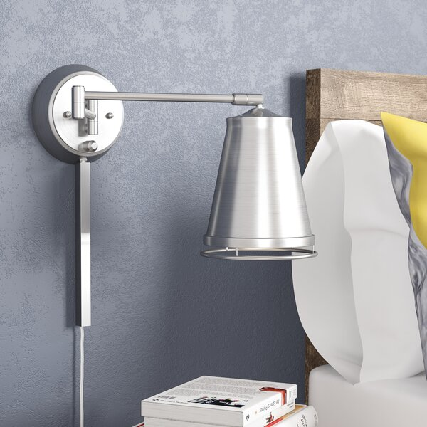 Zara Swing Arm Lamp by Mercury Row