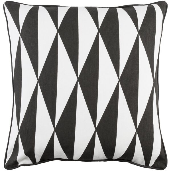 Antonia Geometric Woven Cotton Throw Pillow by Langley Street