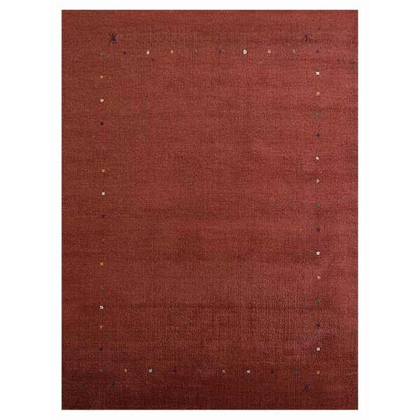 Creager Hand-Tufted Wool Red Area Rug by World Menagerie