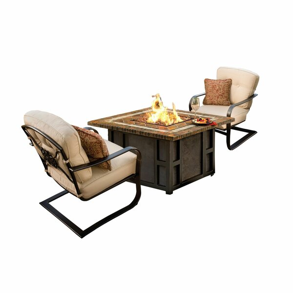 Kirkpatrick 3 Piece Conversation Set with Cushions by Red Barrel Studio