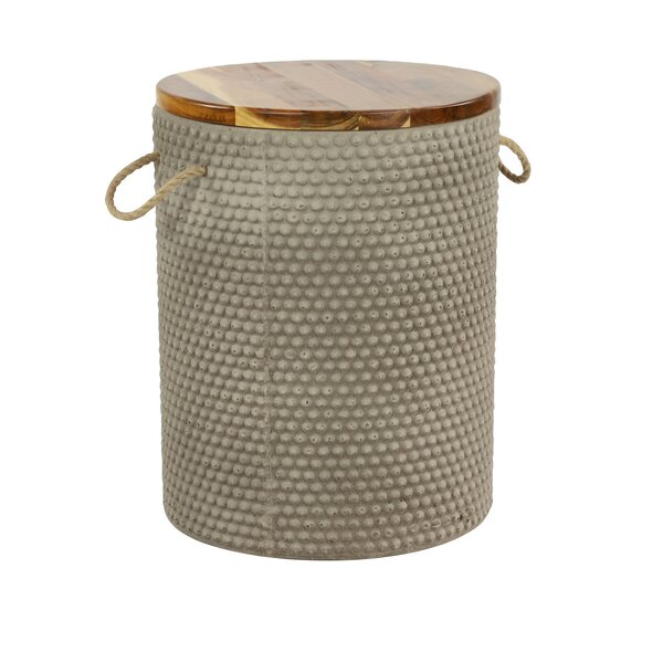 Chancey Concrete Side Table By World Menagerie