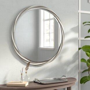 Red Barrel Studio Round Silver Accent Mirror