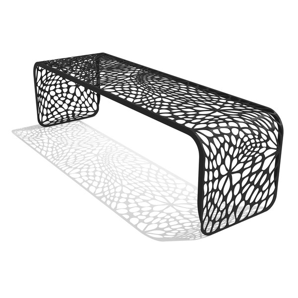 Coral Steel Picnic Bench by Arktura