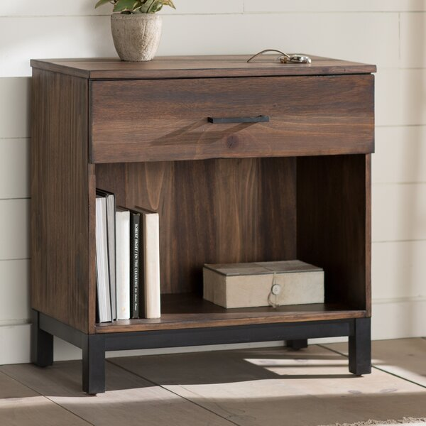 Jaiden 1 Drawer Nightstand by Laurel Foundry Modern Farmhouse