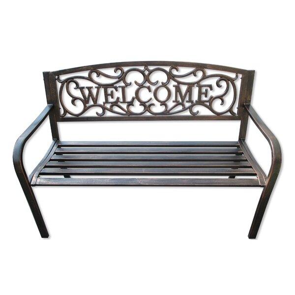 Hartlepool Welcome Metal Garden Bench