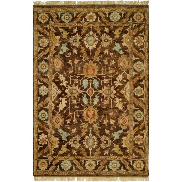 Khafji Hand-Knotted Brown Area Rug by Wildon Home ®