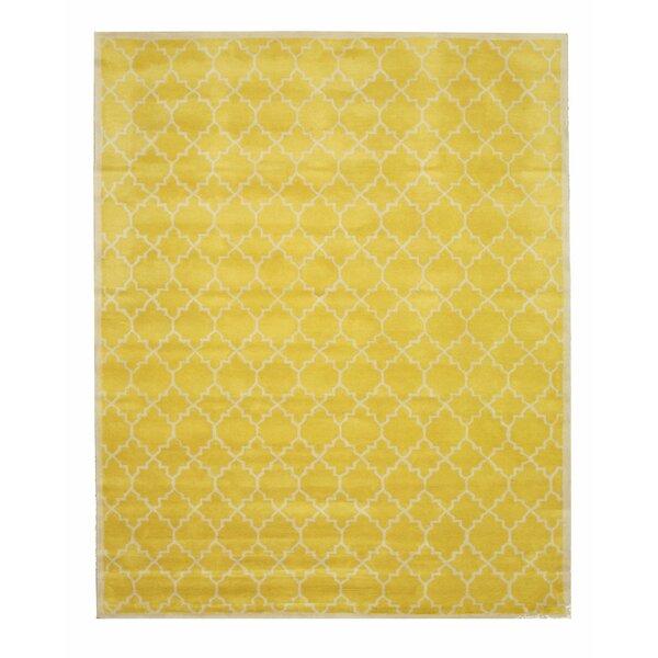 Durrant Hand Tufted Yellow Area Rug by Brayden Studio