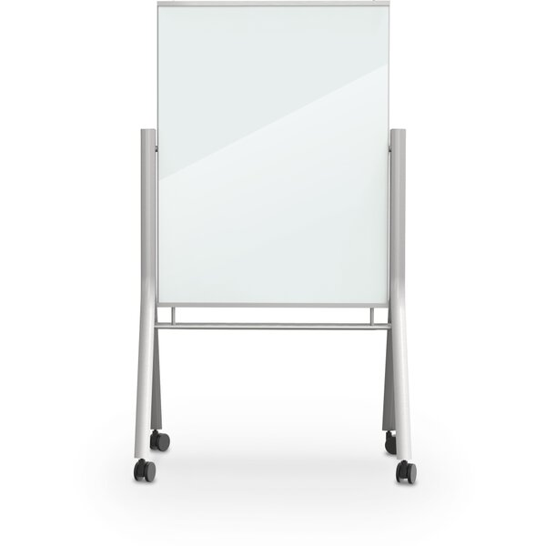 Visionary Curve Mobile Magnetic Free Standing Dry Erase Board by Best-Rite®