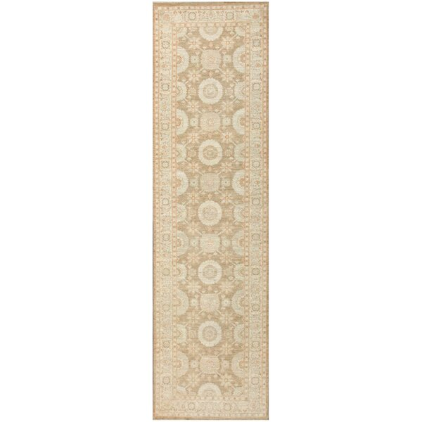 Tabriz Design Hand-Knotted Wool Ivory Area Rug by Pasargad NY