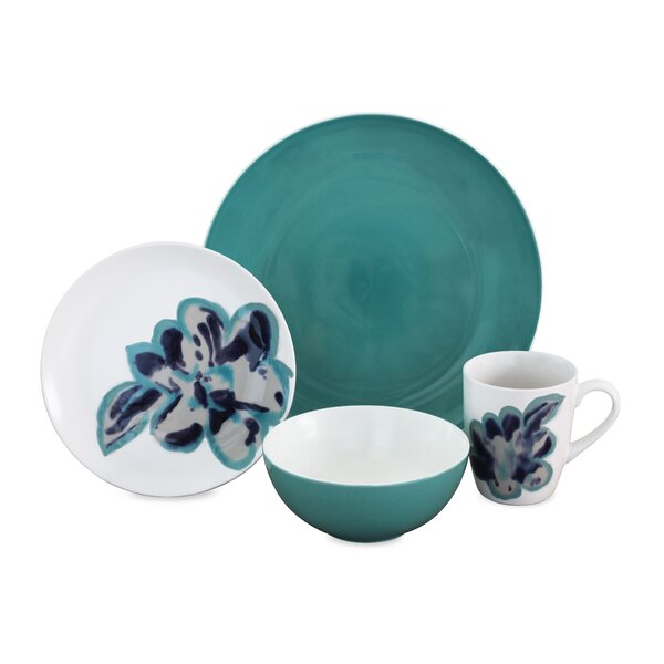 Bloom 16 Piece Dinnerware Set, Service for 4 by Baum
